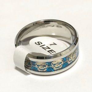 Skulls Ring, Size 7